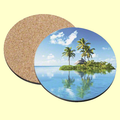 Unisub THB Round Coaster Diameter With Cork Bottom Set Of - Cork coaster bottoms